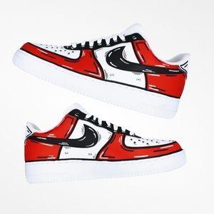 Nike Air force 1 chicago custom